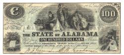 Us Coins - State of Alabama, January 1, 1864, $100, Cr. 12
