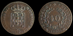 World Coins - PORTUGAL – Kingdom 1830 40 Reis Patacao Miguel I about Extremely Fine