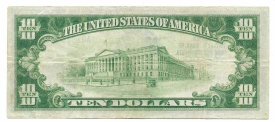 US Coins - Virginia, Norfolk, Ch. 6032, Norfolk National Bank of Commerce and Trusts, Series of 1929 Type 1 $10