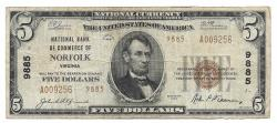 Us Coins - Virginia, Norfolk, Ch. 9885, National Bank of Commerce, Series of 1929 Type 2 $5