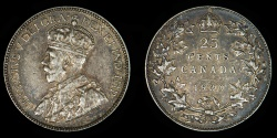 World Coins - CANADA – 1930 25 Cents, George V