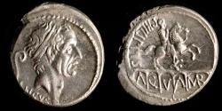 Ancient Coins - ROMAN REPUBLIC – Crawford 425/1, L. Marcius Philippus Denarius, 56 B.C.