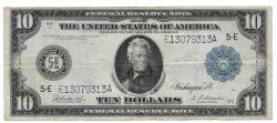 Us Coins - UNITED STATES - Fr. 922, Ten Dollar Federal Reserve Note, Series of 1914, W-1578-E-b, Richmond