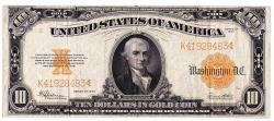 Us Coins - UNITED STATES - Fr. 1173, Ten Dollar Gold Certificate, Series of 1922, W-1541