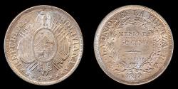 World Coins - BOLIVIA – Republic 1899 PTS CB 50 Centavos