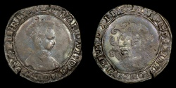 World Coins - ENGLAND – 1549 Base Silver Shilling, Edward VI