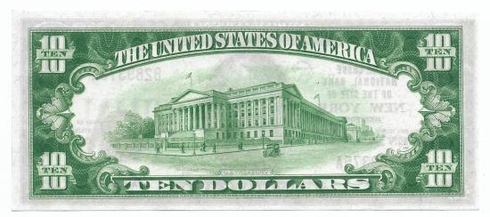 US Coins - New York, New York, Ch. 2370, The Chase National Bank of the City of New York, New York, Series of 1929 Type 1 $10
