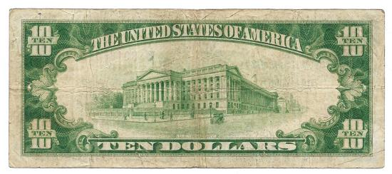 US Coins - UNITED STATES - Fr. 1860B, Ten Dollar Federal Reserve Bank Note, Series of 1929, W-1731-B, New York