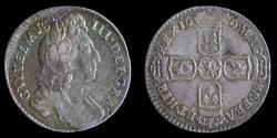 World Coins - ENGLAND – 1696 Sixpence, William III