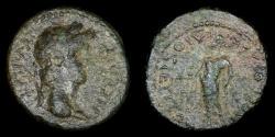 Ancient Coins - ROMAN PROVINCIAL – Asia, Conventus of Ephesus, Lydia, Dioshieron, Nero AE, Zeus reverse