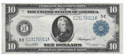 Us Coins - UNITED STATES - Fr. 923, Ten Dollar Federal Reserve Note, Series of 1914, W-1579-E-b, Richmond