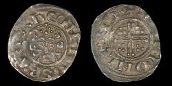 World Coins - ENGLAND – (ca. 1222 – 1236) Penny, Henry III, Short-Cross type, Class 7b, London, Adam