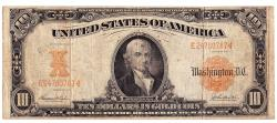 Us Coins - UNITED STATES - Fr. 1172, Ten Dollar Gold Certificate, Series of 1907, W-1537
