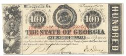 Us Coins - State of Georgia, February 1, 1863, 100 Dollars, Cr. 6, Martin/Latimer Type 21