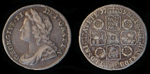 World Coins - GREAT BRITAIN – 1739 Sixpence George II, O/R in GEORGIVS