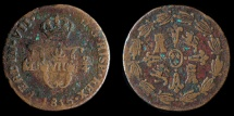World Coins - MEXICO – Spanish Colonial 1815 Mo 2 Cuartos (Señal or 1/4 Real), Ferdinand VII