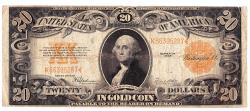Us Coins - UNITED STATES - Fr. 1187, Twenty Dollar Gold Certificate, Series of 1922, W-2235