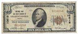 Us Coins - Virginia, Charlottesville, Ch. 10618, National Bank and Trust Company at Charlottesville, Virginia, Series of 1929 Type 1 $10