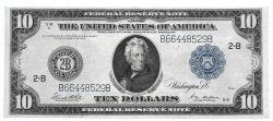 Us Coins - UNITED STATES - Fr. 911C, Ten Dollar Federal Reserve Note, Series of 1914, W-1567-B-d, New York