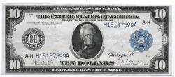 Us Coins - UNITED STATES - Fr. 934, Ten Dollar Federal Reserve Note, Series of 1914, W-1590-H-b, St. Louis