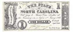 Us Coins - State of North Carolina, September 1, 1862, 1 Dollar, Cr. 88