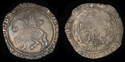 World Coins - ENGLAND – (1643-44) Tower mint under Parliament Halfcrown, Charles I, (P) mm, S.2778