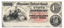 Us Coins - State of Missouri, __________, 186_, $4.50, Cr. 15