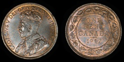 World Coins - CANADA – 1917 Cent, George V