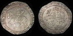 World Coins - ENGLAND – (1638-39) Tower Halfcrown, Charles I, anchor mm, S.2775