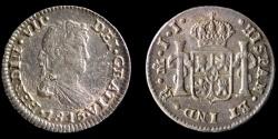 World Coins - MEXICO – Spanish Colonial 1815 Mo J.J. 1/2 Real Ferdinand VII, Mexico City mint