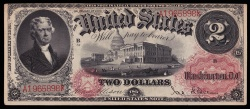 Us Coins - Fr. 48 – Series 1878 2 Dollar Legal Tender PCGS About New 50