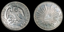 World Coins - MEXICO – Republic – Cap & Rays 8 Reales, 1883 Mexico City mint, 1883 Mo M.H.