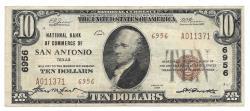 Us Coins - Texas, San Antonio, Ch. 6956, National Bank of Commerce of San Antonio, Texas, Series of 1929 Type 2 $10