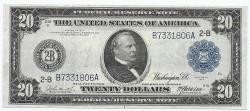 Us Coins - UNITED STATES - Fr. 968, Twenty Dollar Federal Reserve Note, Series of 1914, W-2254-B-b, New York