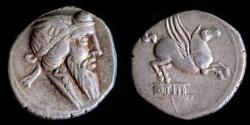 Ancient Coins - ROMAN REPUBLIC – Crawford 341/1, Q. Titius Denarius, 90 B.C.