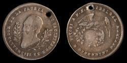 World Coins - BOLIVIA – Republic Proclamation ¼ Melgarejo 1865