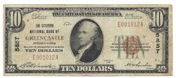 Us Coins - Pennsylvania, Greencastle, Ch. 5857, The Citizens National Bank of Greencastle, Pennsylvania, Series of 1929 Type 1 $10