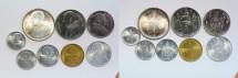 World Coins - Vatican Complete FAO Set 1;2;5;10;20;50;100;500 Lire 1968-Anno VI   BU
