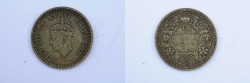 World Coins - India British Silver 1/4 Rupee 1945  VF+