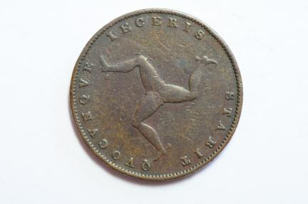 World Coins - Isle of Man Farthing 1839  VF-