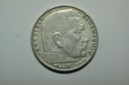 World Coins - Germany; Silver 2 Reichsmark 1939-D