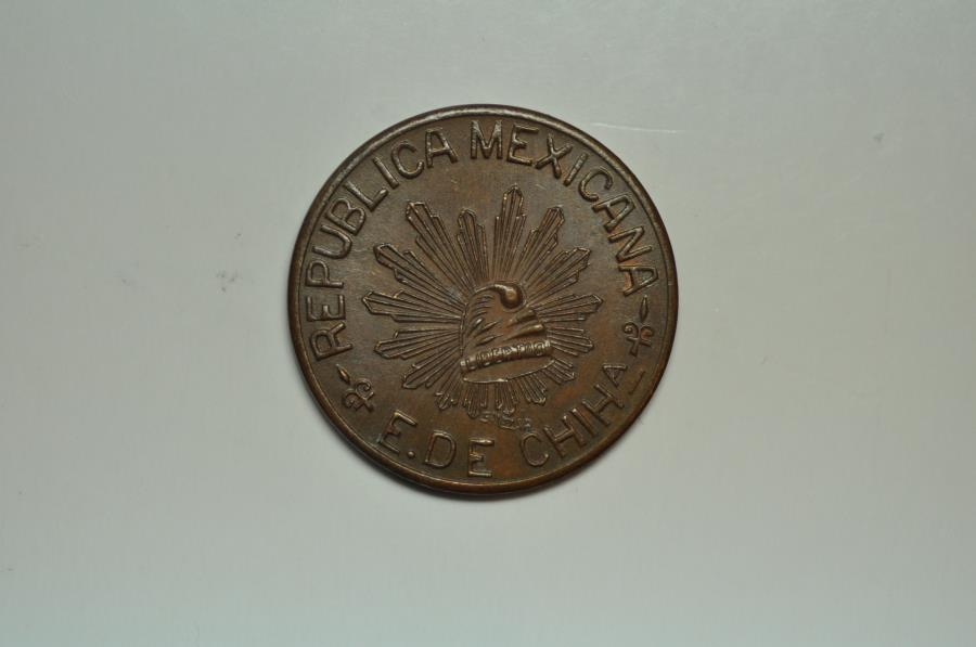 World Coins - Mexico Chihuahua Constitutionalist Army; 5 Centavos 1915  Brown UNC