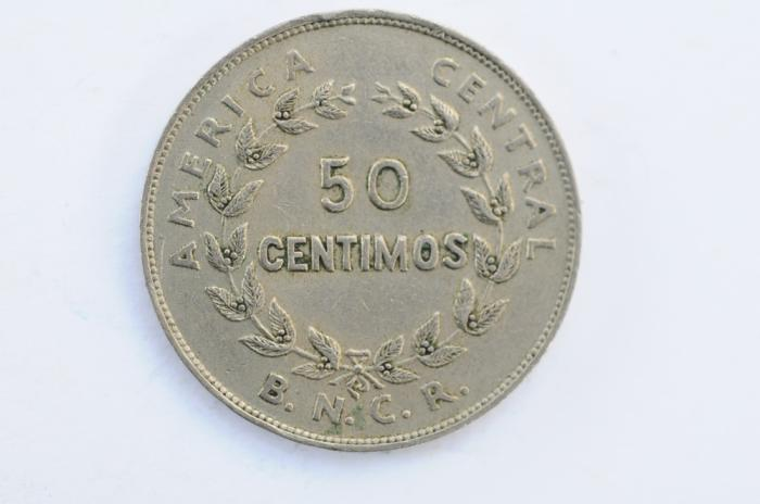 World Coins - Costa Rica 50 Centimos 1937  XF