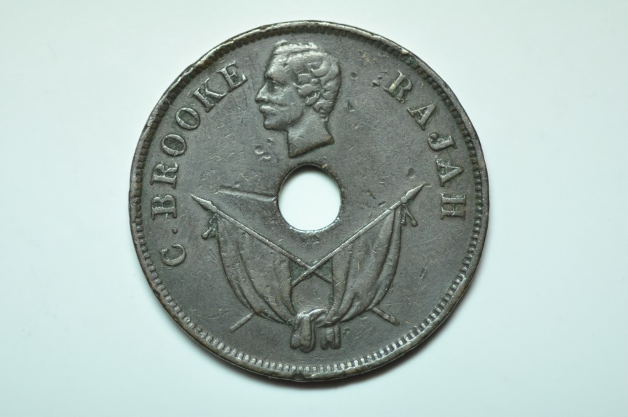 World Coins - Sarawak; Cent 1892 H   VF