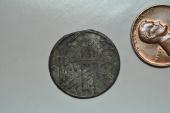 World Coins - Palembang Sultanate, Sumatra; Uniface Tin Pitis no date - circa 1750    XF
