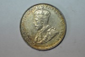 World Coins - Straits Settlements Silver 50 Cents  1921  UNC
