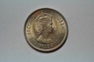 World Coins - Malaya & British Borneo; 20 Cents 1961    BU