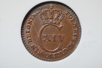 World Coins - Sweden; 1/6 Skilling 1830  ANACS MS63 BRN
