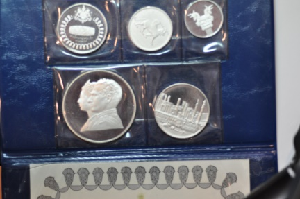 World Coins - Iran; Proof Set 1971 - 5 Coins: 200, 100, 75, 50, 25 Rials  2,500th Anniversary of Persian Empire
