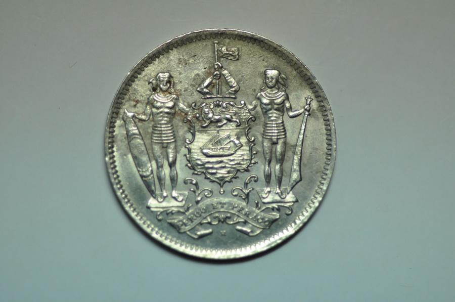 World Coins - British North Borneo; 5 Cents  1941H   XF/AU